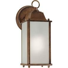 Burton 1 Light Rustic Sienna  Outdoor Compact Fluorescent Lighting Wall Light