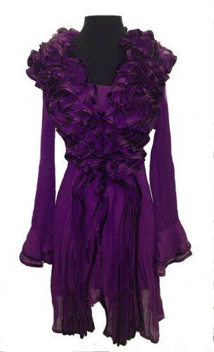 Frivolous Fabulous - Purple Ruffle Love in the Boudoir