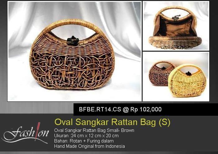 Oval Sangkar Rattan (S)