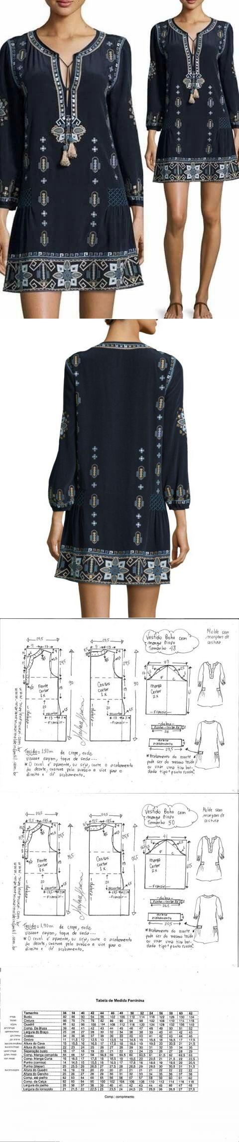 Выкройка женского платья. Размеры от 36-56(евро) (Шитье и крой) | Журнал Вдохновение Рукодельницы