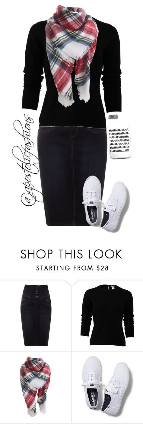 """Apostolic Fashions #979"" by apostolicfashions on Polyvore featuring Jane Norman, Oscar de la Renta and Keds"