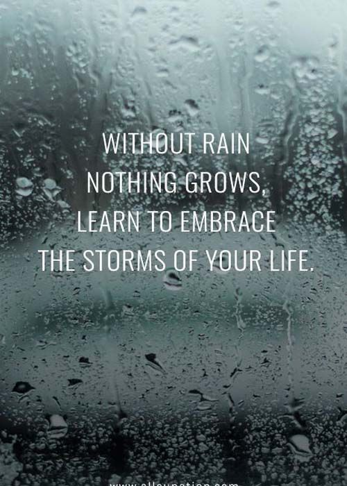 I excitedly embrace the rain, because it means something wonderful is coming!