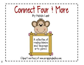 Connect Four & More- Phonics and Language Arts Games