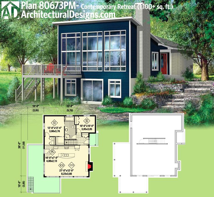 Plan 44088td Walls Of Gl Architectural Design House Plans Modern Planodern