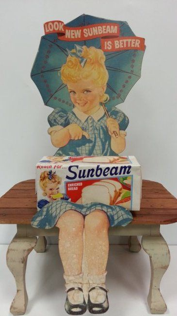 Scarce Sunbeam Bread counter advertising display