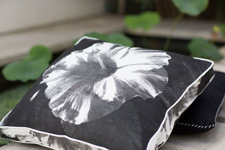 Coca Mojo Giant hibiscus flowers in black in store at the General Store Furniture Co
