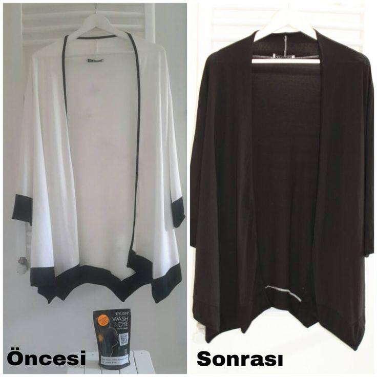 Zeynep Hanım bizden DYLON Kadife Siyah - Velvet Black Wash & Dye boyalarımızdan alarak rengini değiştirdiği hırkası..Güle güle kullanın Zeynep Hanım :) www.gagva.com.tr 'den ve #carrefoursa 'lardan alabilirsiniz bu rengimizi..