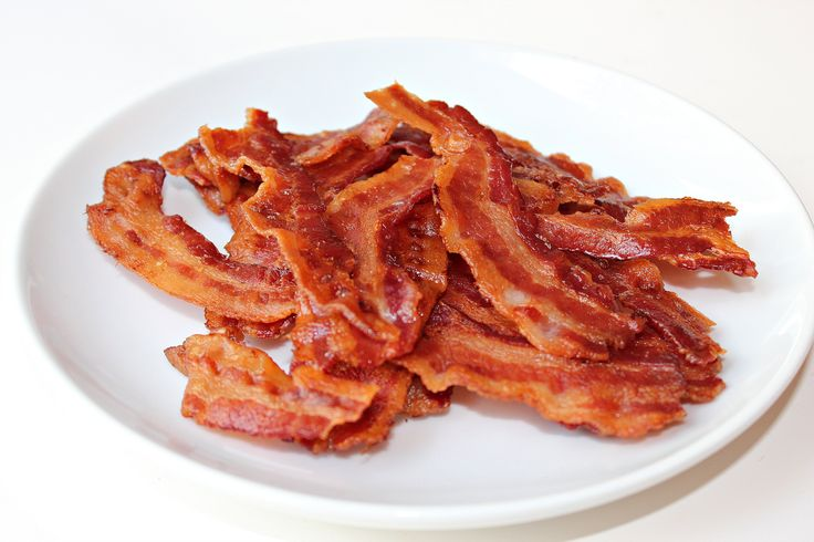 Crispy Bacon Directions Qty : 8 Bacon Rashers Cooking Time : 10-15 Mins Temperature : 200 ° C or 390 ° F Instructions * Cook from Defrosted * No Oil Necessary * Shake often Notes Cooking time will vary depending on Air Fryer, type of Bacon, as well as the thickness of the rashers. Adjust the cooking time as necessary. Ensure you shake often to ensure the bacon rashers are cooked evenly and check often.