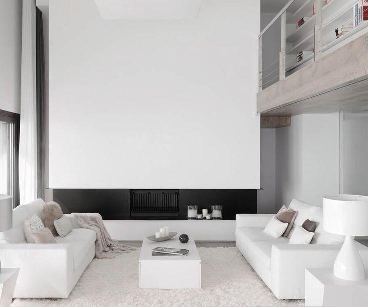 Lovely open ceiling living room