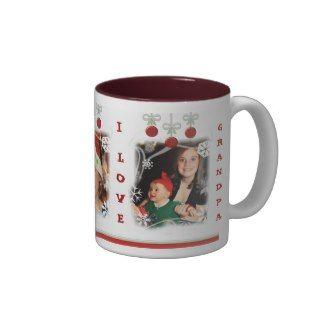 Custom Photo & Text Christmas Coffee Mug