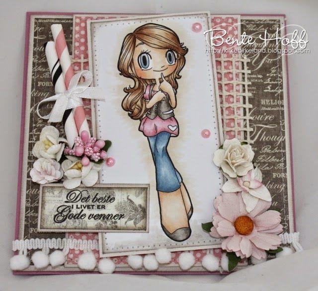 Bente's hobbyblogg: Some Odd Girl i rosa og brunt :):)