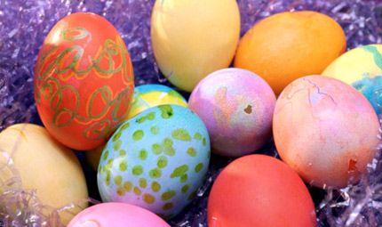 piccole uova colorate