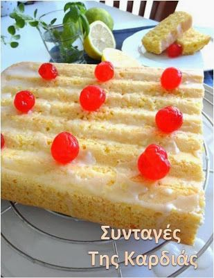 Cake lemon-carrot-coconut /  Κέικ λεμόνι-καρότο-καρύδα