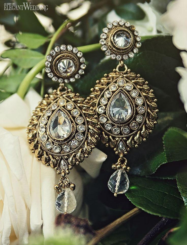 South asian wedding jewellery! Beautiful earrings from Banglez Jewelry RUSTIC SOUTH ASIAN WEDDING INSPIRATION www.elegantwedding.ca