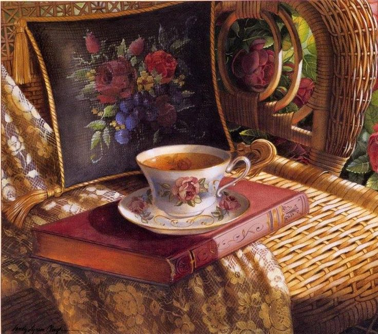Cup of hot tea & a great book. What more could you ask for. Pinned from the Rose Cottage.