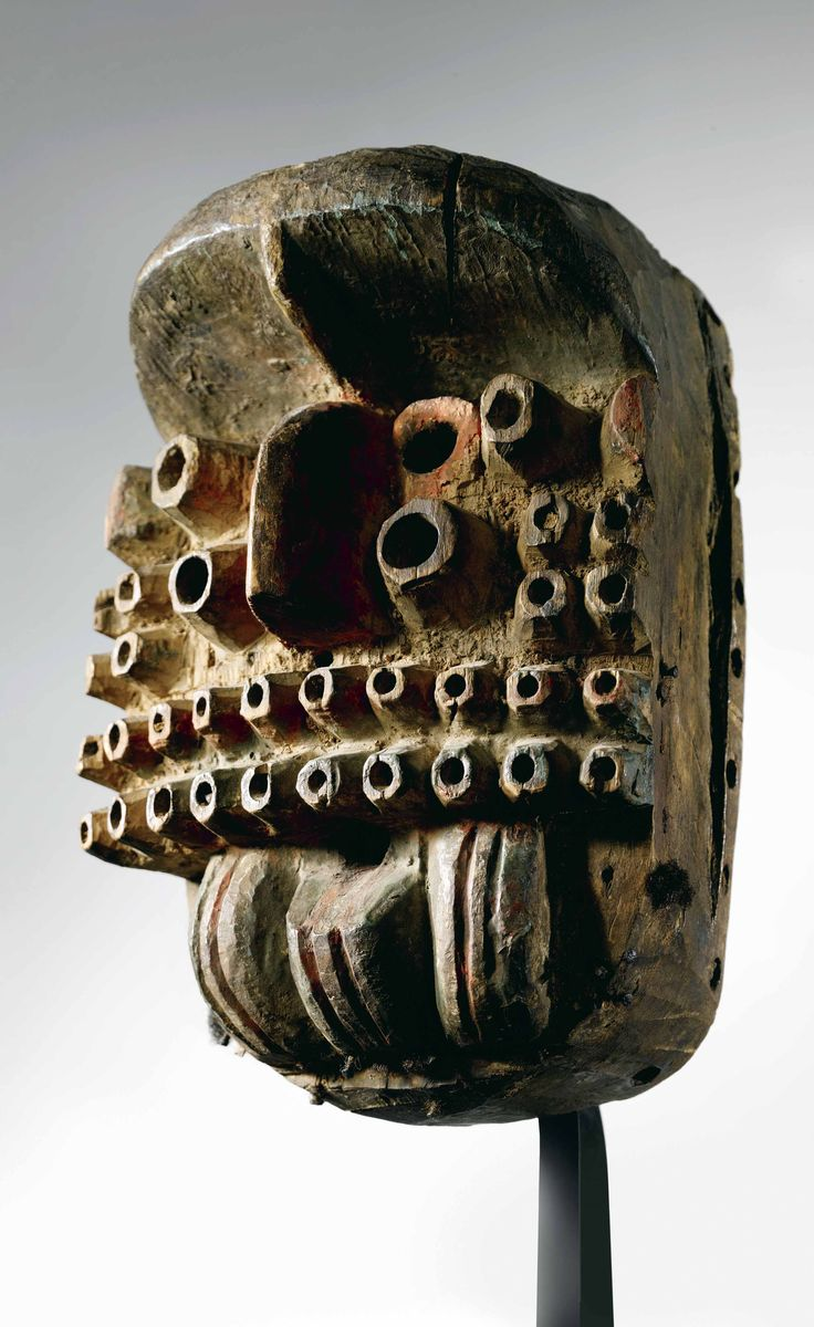 Africa | Mask from the We (Ngere) people of the Ivory Coast | Wood | ca. 1071
