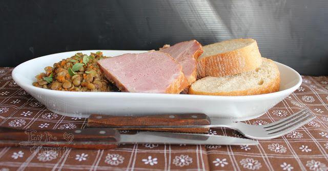 Slávnostná šošovica s údeným mäsom