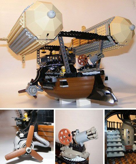 Lego Steampunk Airship. It remains me of the Horde airship from World of Warcraft.