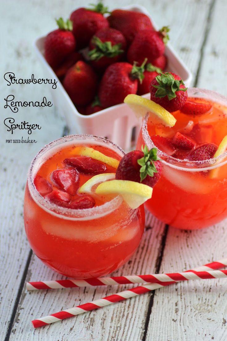 Pint Sized Baker: Strawberry Lemonade Spritzer
