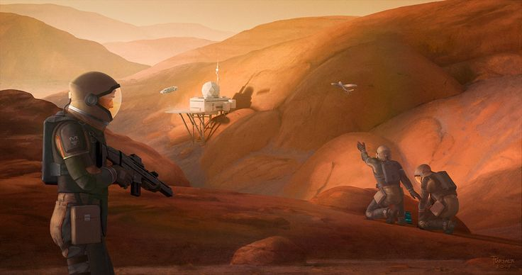 The Corporate Wars on Mars, 2015. ©Pirkka Harvala #Cyberpunk #Mars #Scfi #Landscape