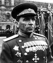General of the Army Batov Pavel Ivanovich (1897-1985), a Soviet military leader, the Hero of the Soviet Union (twice). Commanded of the 9th Rifle Corps (since Aug.1941 - the 51st Army), the 3rd Army, the 4th Tank Army and the 65th Army (1942-1945).