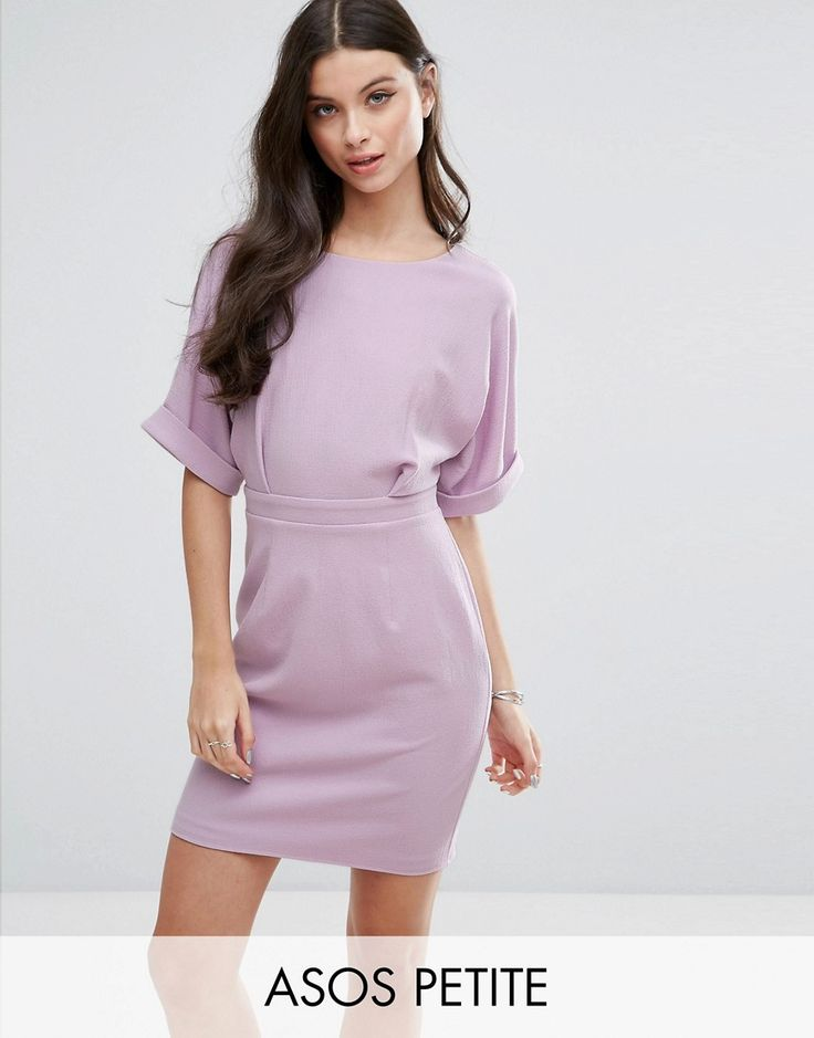 Get this Asos Petite's mini dress now! Click for more details. Worldwide shipping. ASOS PETITE Mini Smart Woven Dress with V Back - Purple: Petite dress by ASOS PETITE, Textured woven fabric, Round neck, V-back, Zip-back fastening, Slim fit - cut close to the body, Machine wash, 97% Polyester, 3% Elastane, Our model wears a UK 8/EU 36/US 4 and is 165cm/5'5 tall, Mini dress length between: 85-87cm. 5�3�/1.60m and under? The London-based design team behind ASOS PETITE take all your fashion ...