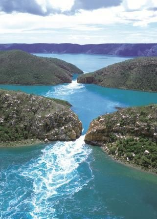 Horizontal Falls - Broome's 'Big Ticket Item' and not to be missed. One of natures wonders; powered by the huge tidal movements of the Indian Ocean. Whether exploring them by boat, sea plane or on a scenic flight these awesome beauties have to be seen.