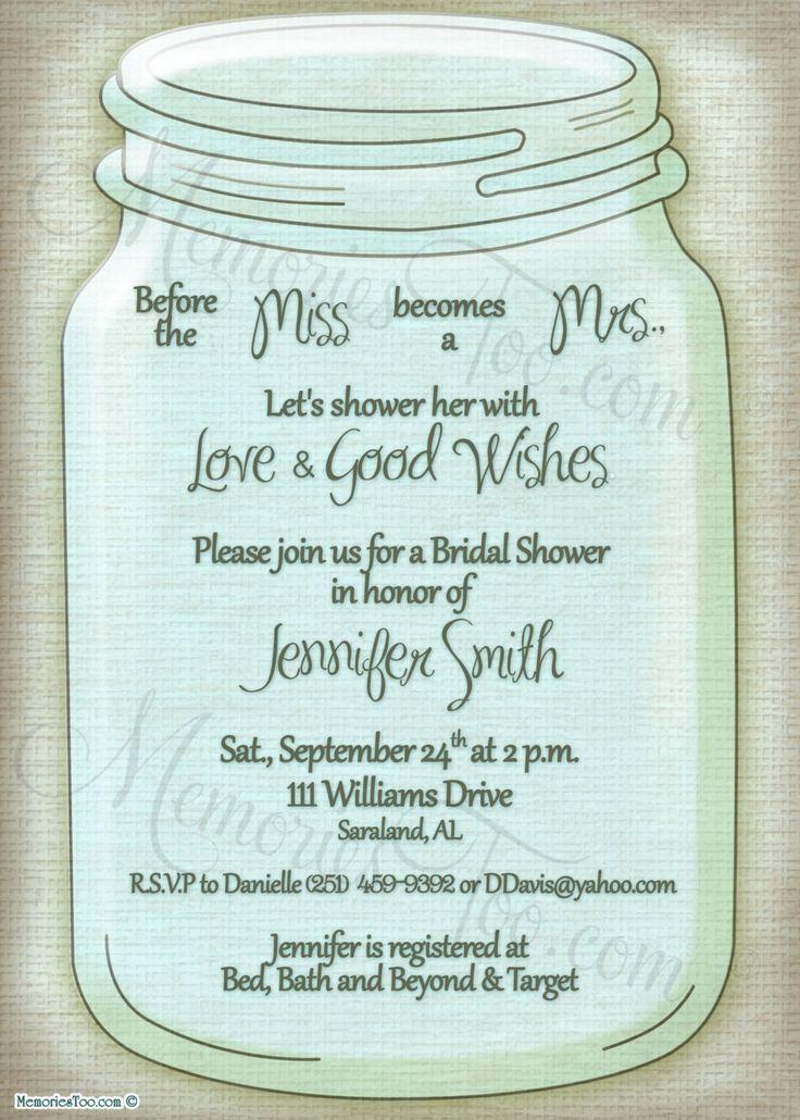 33 best Wedding Shower Stuff images on Pinterest Wedding showers - best of invitation template free