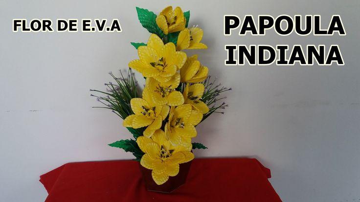 Flor papoula indiana de e.v.a