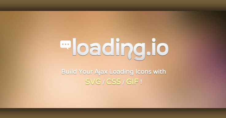 Build Your Ajax Loading Icons with SVG / CSS / GIF !