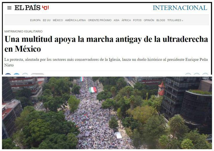 No es fácil acumular tantas falsedades en una crónica como la que publicó El País sobre la manifestación, el pasado fin de semana, de casi medio millón de mexicanos a favor de la familia y contra el matrimonio gay que pretende imponer el presidente Peña Nieto.