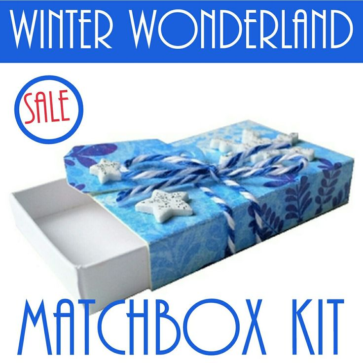 On sale now!  Our winter wonderland matchbox kits.  Out with the old and in with the new.  Stock up for your next holiday crafting season.  Everything you need to make this fun matchbox.