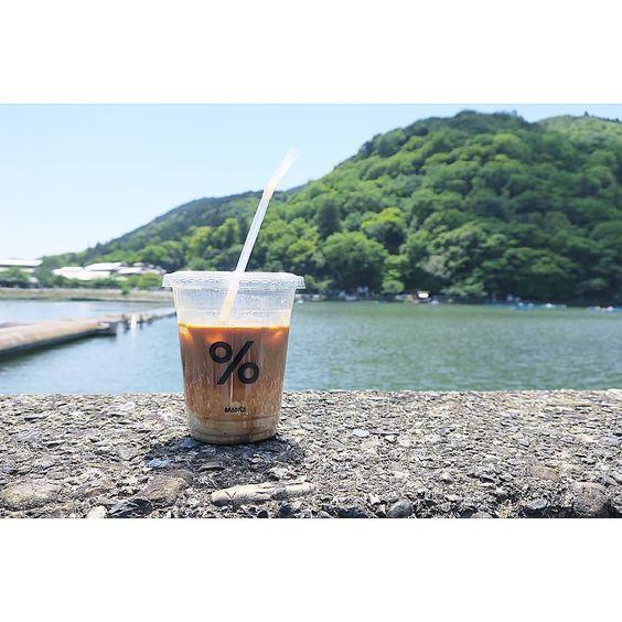 カップを手にして写メりたい。嵐山を堪能できるカフェ「%ARABICA」 | by.S