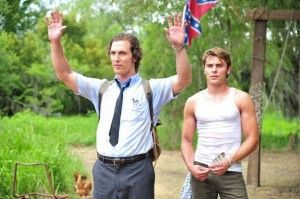 Matthew McConaughey and Zac Effron in The Paperboy.