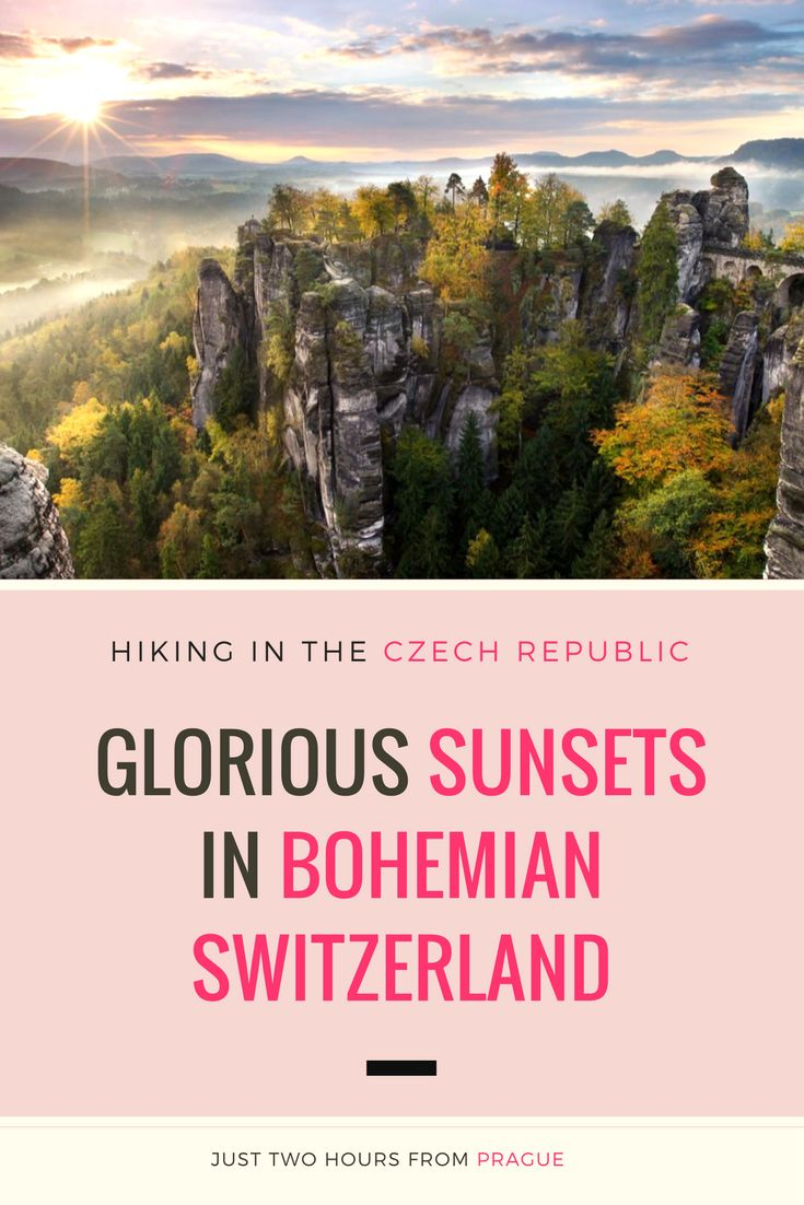 Exploring Nature in the Czech Republic: Who doesn't love a good sunset? After a long day of hiking through the lush Czech nature and stunning Bohemian-Saxon Switzerland National Park, surely catching a sunset is the reward for all the effort. Click here to read more about this magical place.