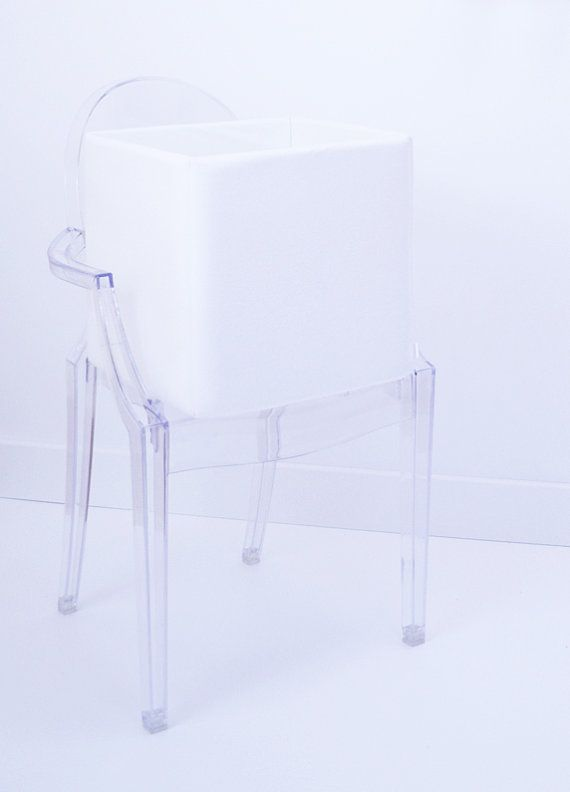 White toy storage box made of soft fabric baby room by maneleDeco