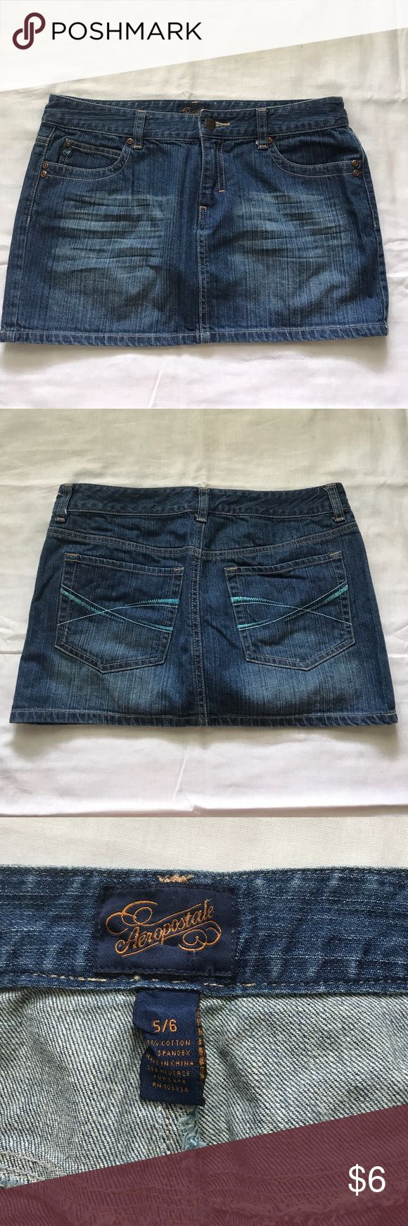 "Jean skirt sz 5/6 11.5"" long. 98% cotton. 2% spandex. Excellent condition. smoke-free home. Aeropostale Skirts Mini"