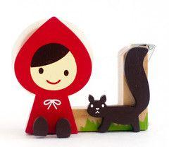 Decole-Tape Dispensers-Little Red Riding Hood Squirrel - Otogicco - Tape Dispenser