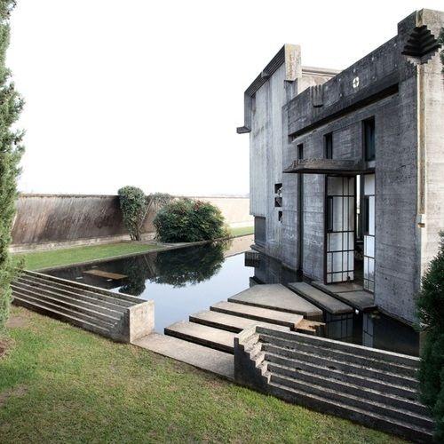 Brion Cemetary in San Vito d'Altivole near Treviso, Italy