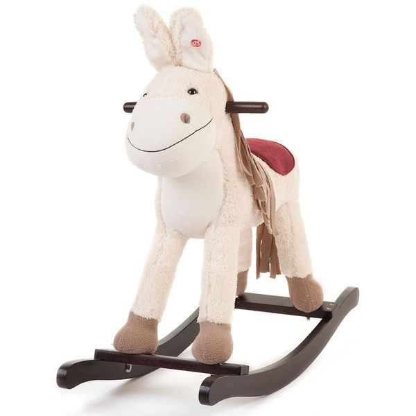 Traditional Toys - Kids' Cream Wooden Toy Rocking Donkey. This very cute toy rocking donkey is available to buy now for £44.99