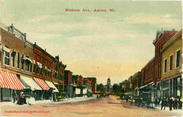 Aurora Missouri Madison Avenue Vintage Postcard