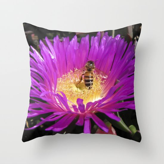 Purple flower with Bee by Deborah Janke