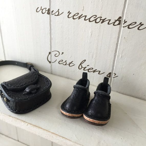 Real Leather:doll/shoes/Black color/ by Amabiledoll on Etsy
