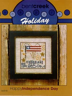 Bent Creek: Cross stitch pattern: Happy Independence Day (Snapper)