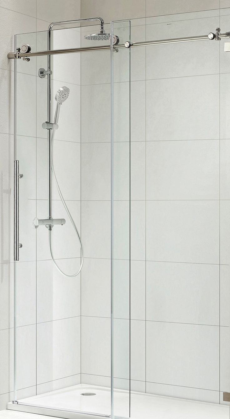 Sliding shower screen - Paragon Bath 0asbs03 L Frameless Shower Door Chrome