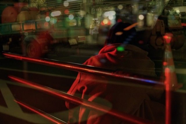 Multiple Exposures Photography in Taxi by Issui Enomoto