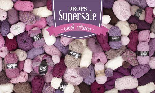 DROPS Supersale - -35% su 21 filati di lana per tutto il mese di maggio 2015