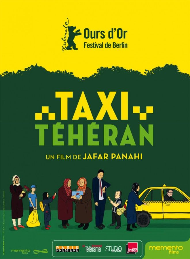 TAXI TEHERAN Installé au volant de son taxi, Jafar Panahi sillonne les rues animées de Téhéran. Au gré des passagers qui se succèdent et se confient à lui, le réalisateur dresse le portrait de la société iranienne entre rires et émotion. (Ours d'or au festival de Berlin 2015)