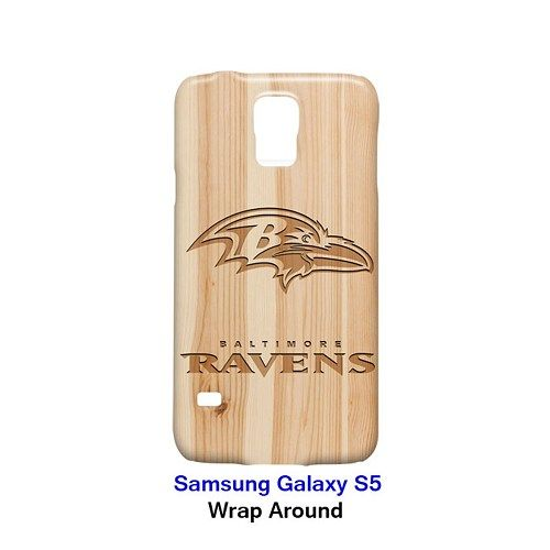 Baltimore Ravens Style Wood 2 Case for Samsung Galaxy S5