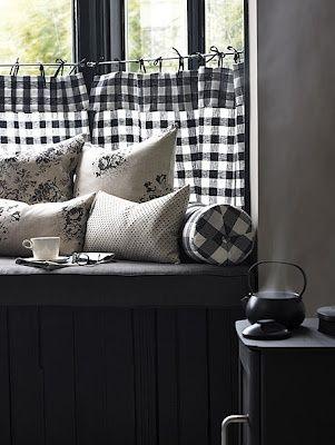 black and white, decor, and interior design image